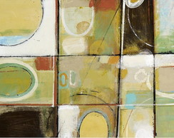 "QUADRO ABSTRATO MODERNO ""NATURAL SHAPES"""