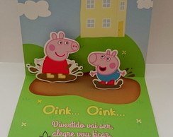 Convite Pop up - Peppa Pig