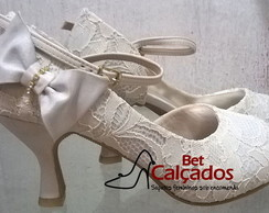 Sapato peep toe rendado Off White