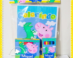 Kit Colorir + Massinha George Pig