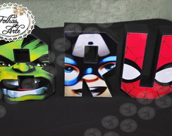 Letras 3D - Super Hero Squad