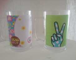 Canecas personalizadas love and peace