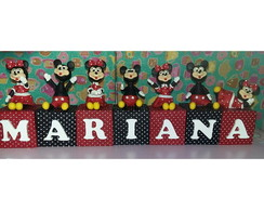 Cubinhos decorados Mickey/Minnie
