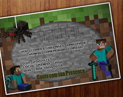 ARTE DIGITAL- CONVITE MINECRAFT