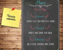 Chalkboard - Menu Divertido