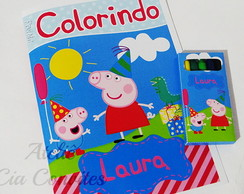 Kit Colorir Peppa Pig com Giz