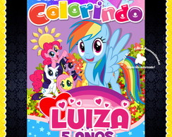 Capa Revista Colorir My Little Pony Arte