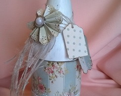 Garrafa Scrap Decor/shabby Chic