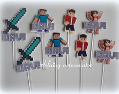 Topper de doces Minecraft