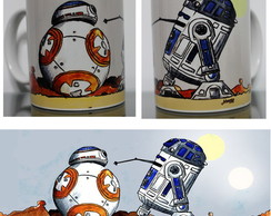 Caneca Star Wars - BB-8 & R2D2
