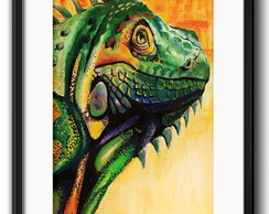 Quadro Iguana Pop Art com Paspatur