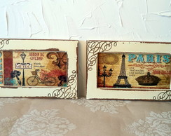 Kit 2 Quadros Paris