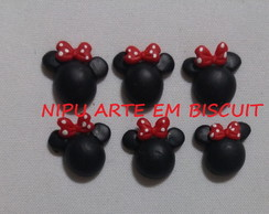 Aplique Biscuit Minnie 2cm[