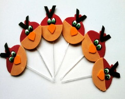 10 Toppers Angry Birds Vermelho