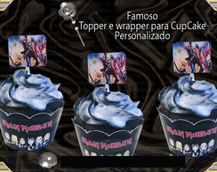 Cupcake Wrapper e Topper - Iron Maiden