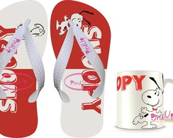 kit Caneca + Chinelo Snoopy
