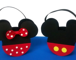 Kit 10 Sacolinhas Do Mickey ou Minnie
