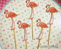 Topper de Doce - Flamingos