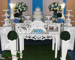 Sob consulta Frete grátis  Aluguel Decoração Casamento Azul Turques dc01f00e0a