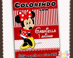 Capa Revista Colorir Minnie - ARTE