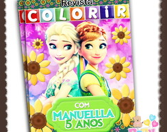 Capa Revista Colorir Frozen Fever - ARTE