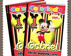Capa Revista Colorir Mickey ARTE