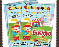 Revista colorir Circo ARTE