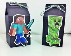 Caixa Milk Box G - Minecraft