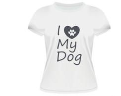 Camiseta Feminina I love my dog