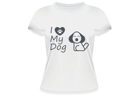 Camiseta Feminina My dog