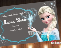 Convite frozen no papel vegetal