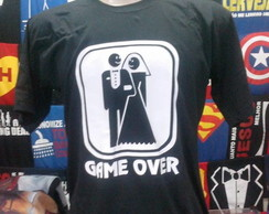 Camiseta Game Over ,camiseta casamento