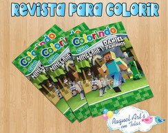 Revista de colorir Minecraft