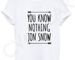 Camiseta you know nothing jon snow
