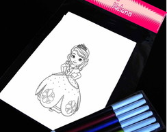 Princesa Sofia Kit Para Colorir