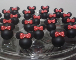 Aplique Minnie e Mickey de biscuit