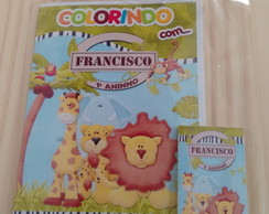 Kit Livro de colorir + giz de colorir