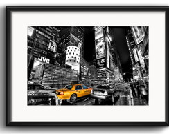 Quadro New York Taxi com Paspatur