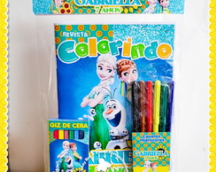 Kit Colorir Frozen Fever + canetinha