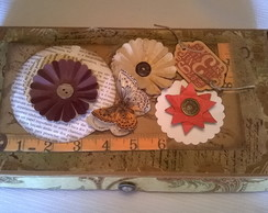 Caixa decorada em scrap decor