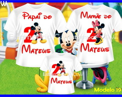 Kit 3 Camisetas Mickey Aniversario
