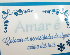 Placa decorativa de Mesa Frozen