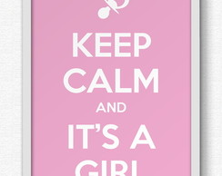 Quadro Keep calm girl - A3