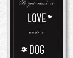 Quadro Love dog - A3