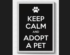 Quadro Keep calm dog - A3