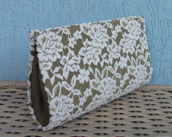 Clutch Rendada Creme