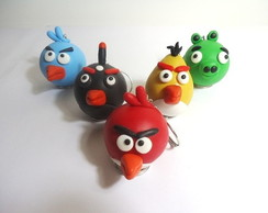 Chaveiro Angry Birds em Biscuit