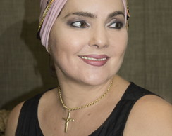 Turbante Rosa com Headband