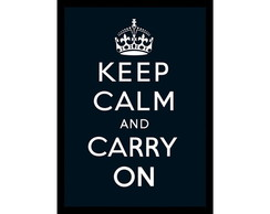 Quadro Poster ArtDigital Keep Calm Black