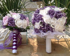 Kit bouquet noiva & bouquet solteiras